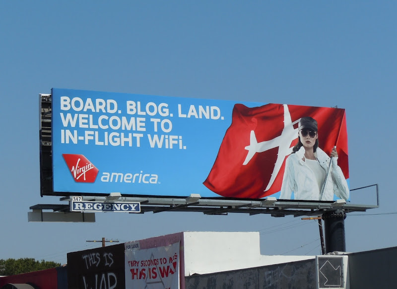 Virgin America inflight wi-fi billboard