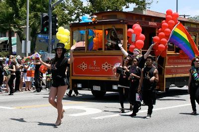 Americana float WEHO Pride 2010