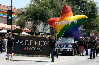 Macy's float WEHO Pride and Joy 2010