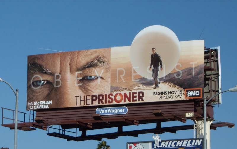 The Prisoner remake TV mini-series billboard