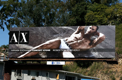 Clint Mauro AX underwear model billboard
