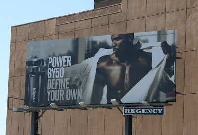 Power fragrance male model billboard