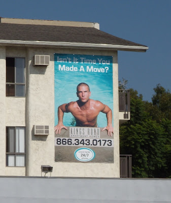 Hot pool guy billboard