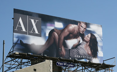 Sexy Armani Exchange billboard