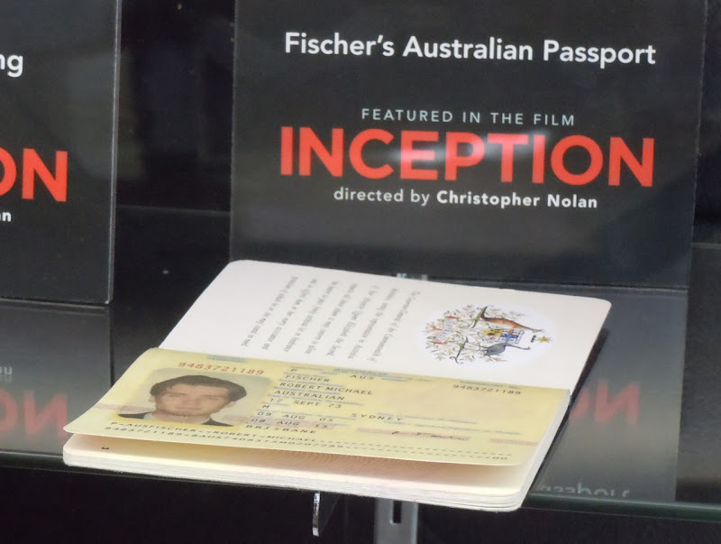 Inception Fischer's Australian passport prop