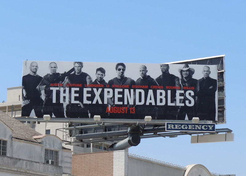 The Expendables film billboard