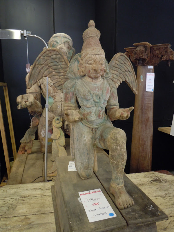 Wooden horseman angel