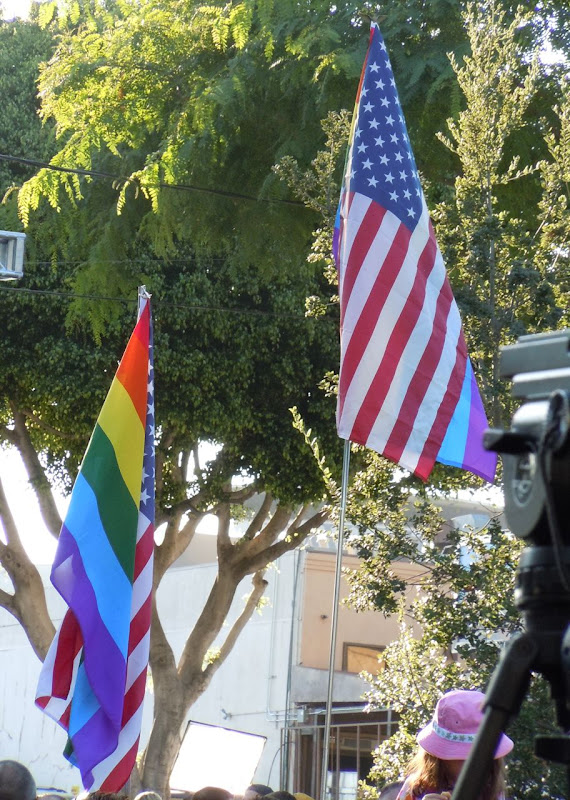 Gay American freedom flags