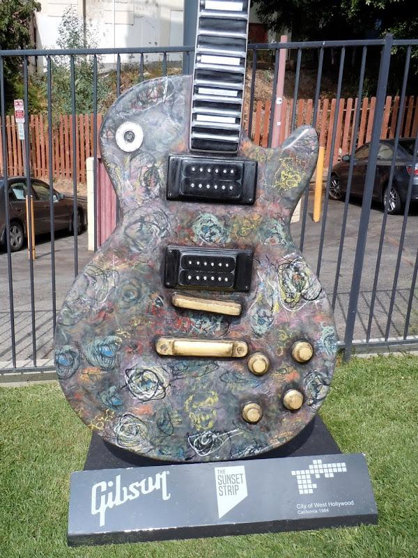 Painted guitar Sunset Strip