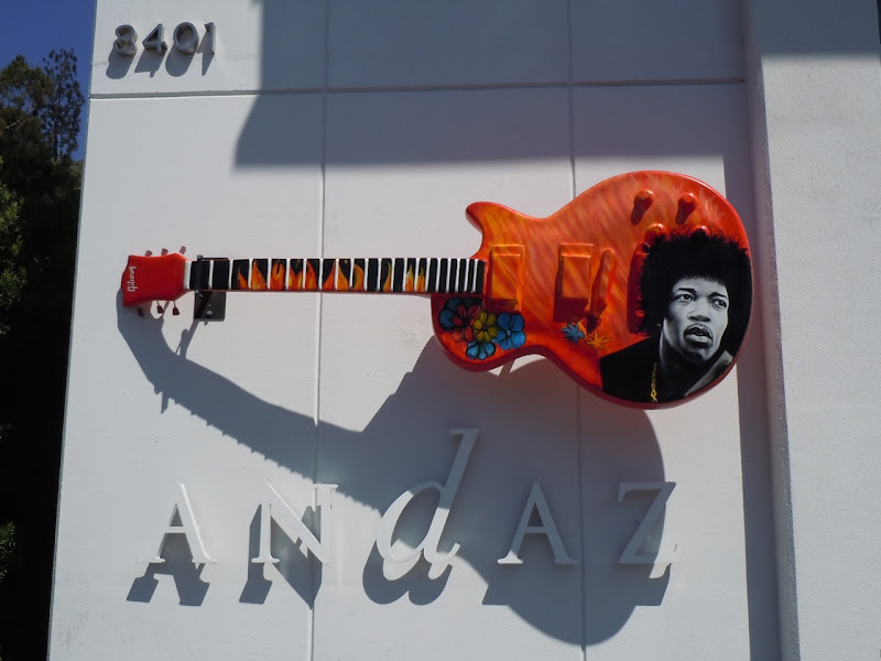 Jimi Rocks GuitarTown Andaz HOtel