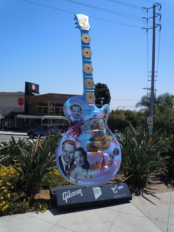 Glory Days Guitar sculpture Sunset Strip