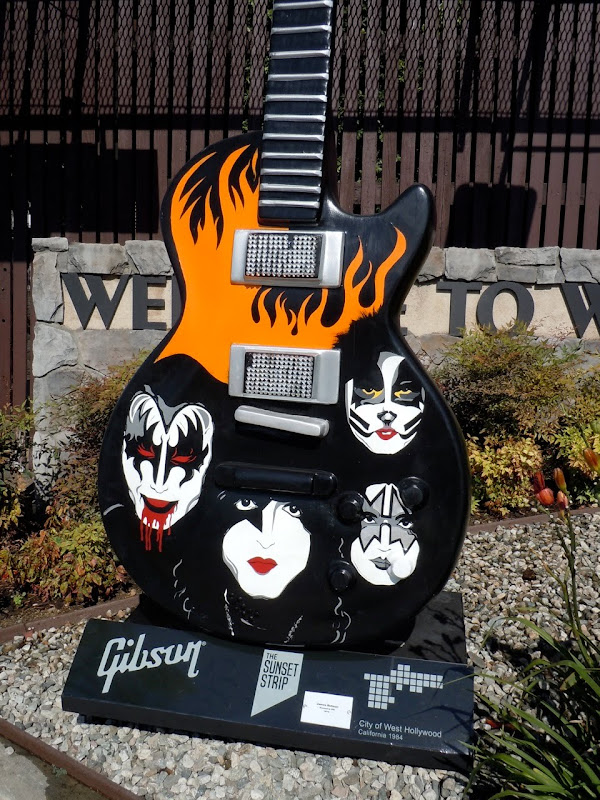 Dressed to Kill Kiss GuitarTown sculpture