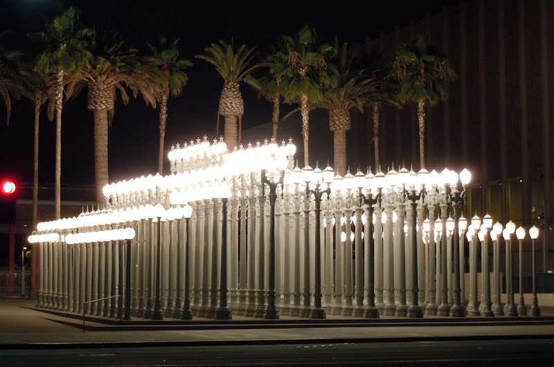 Urban Light installation at night