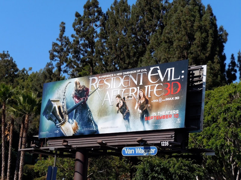 Resident Evil Afterlife 3D billboard