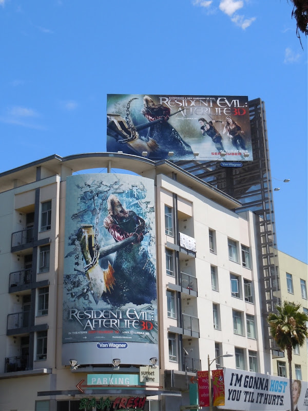 Resident Evil Afterlife billboards