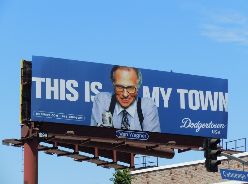 Larry King Dodgertown billboard