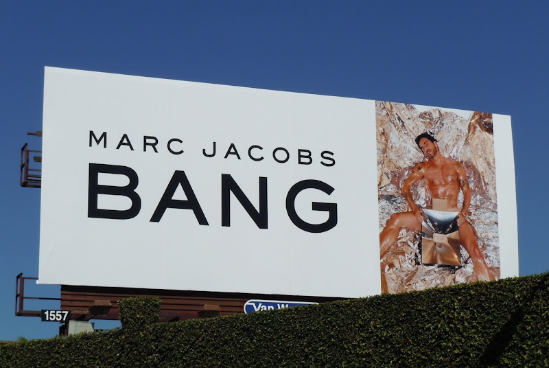 Marc Jacobs Bang male model billboard
