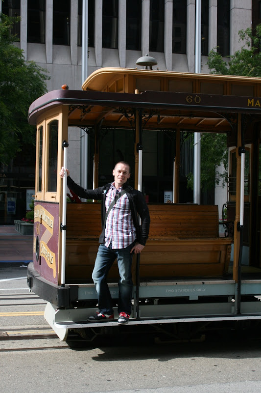 Jason on San Francisco tram