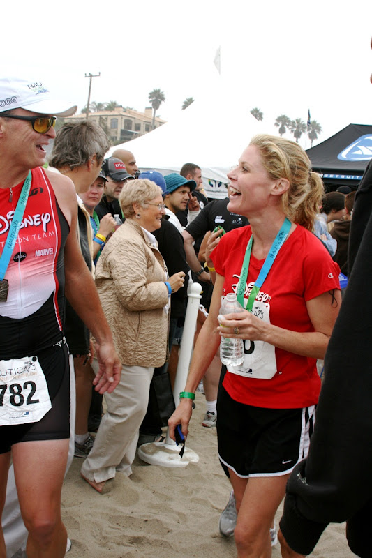Julie Bowen Malibu Triathlon finish