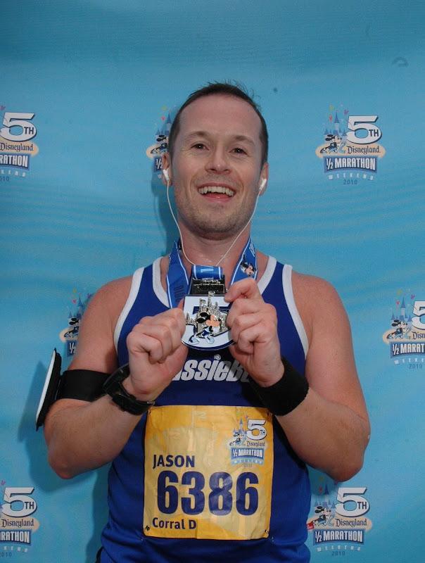 Jason's Disneyland Half Marathon medal