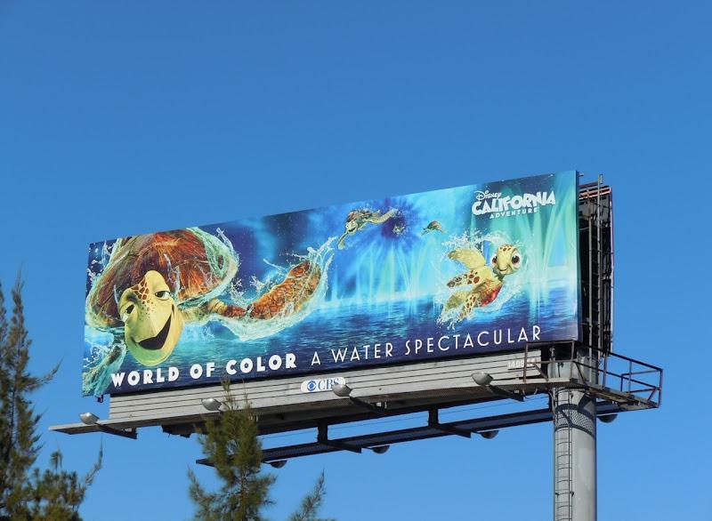 Disney Nemo World of Color billboard