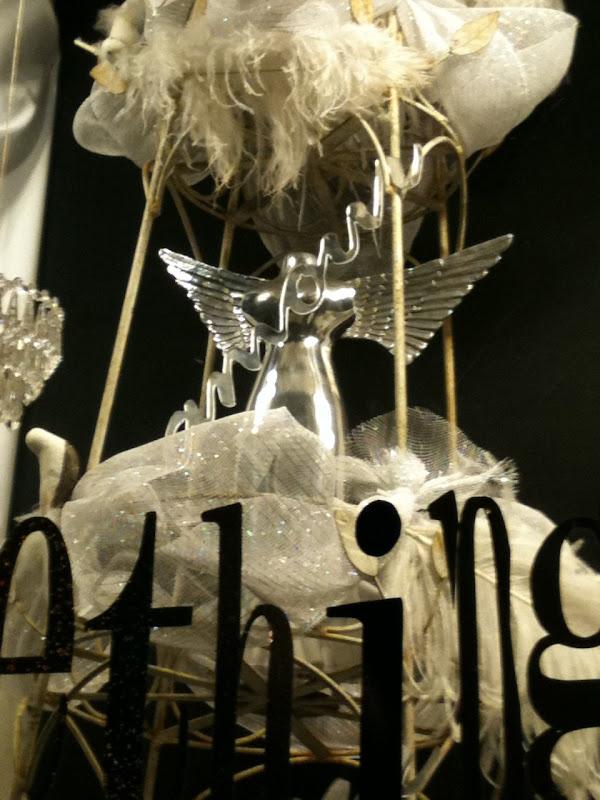 Shop window wedding angel