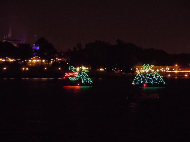 Disney World illuminated sea creature