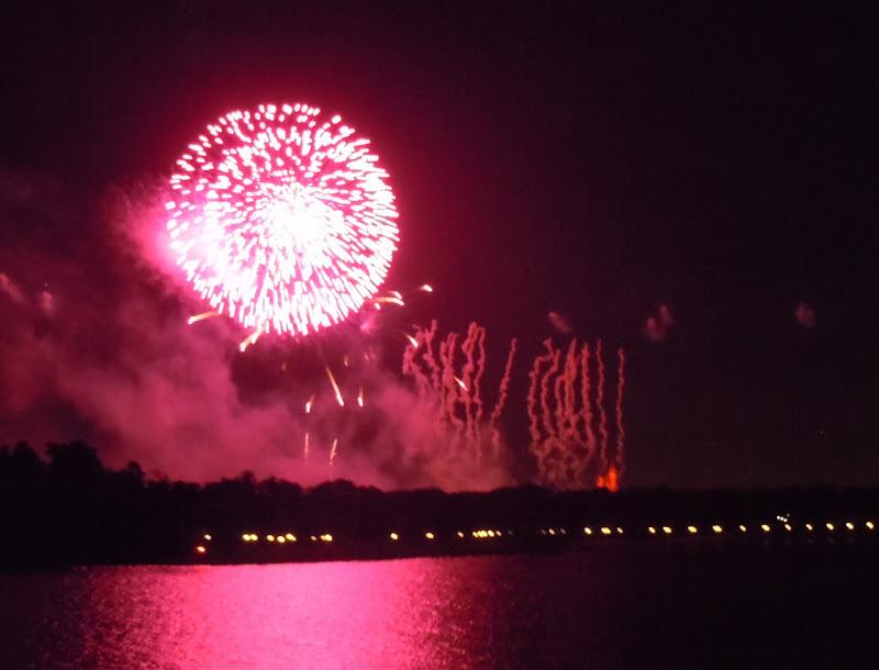 Disney Magic Kingdom pink fireworks