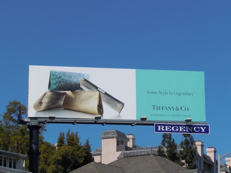 Tiffany clutch bag billboard
