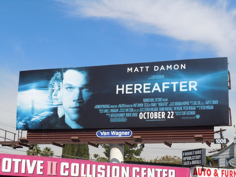 Hereafter movie billboard