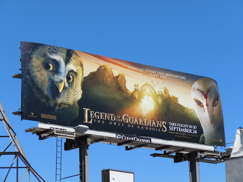 Owls of Ga'Hoole film billboard