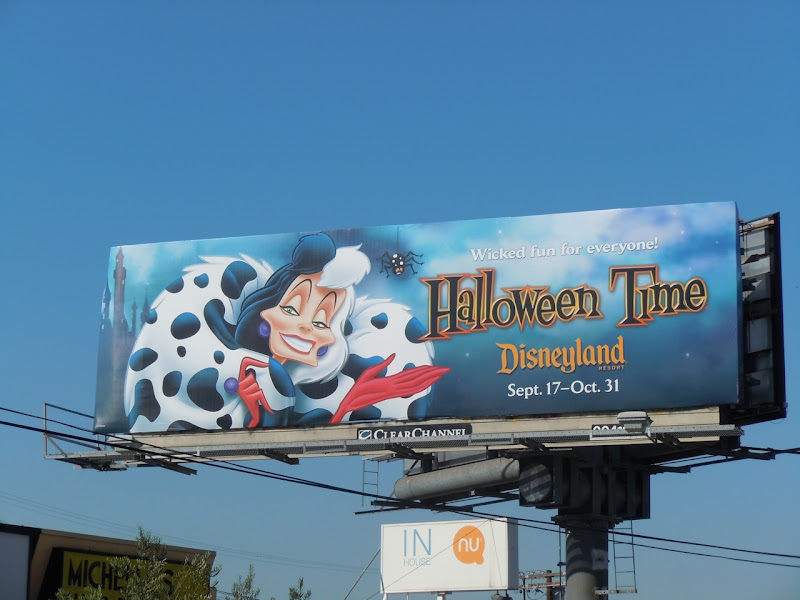 Cruella De Vil Disney Halloween billboard