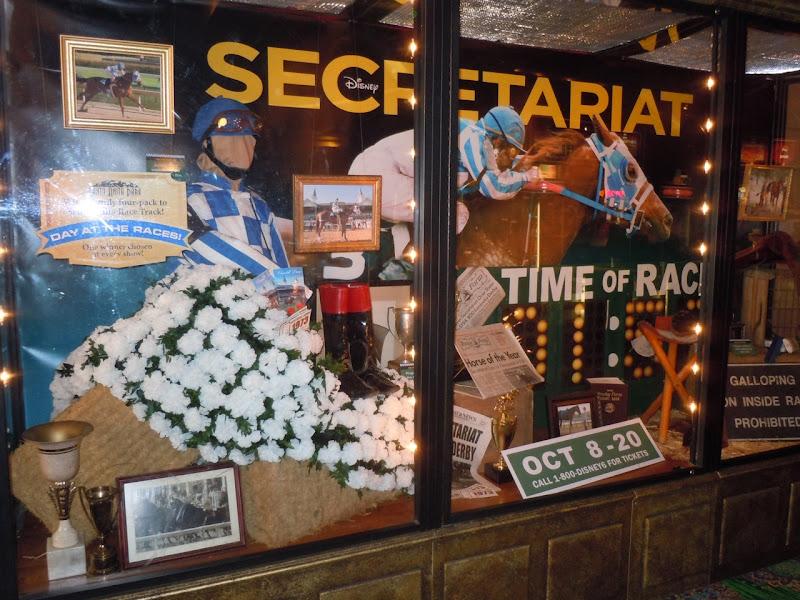 Disney Secretariat costume and prop display