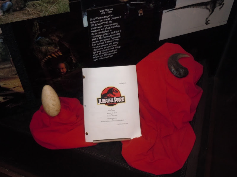 Jurassic Park dinosaur egg and claw prop