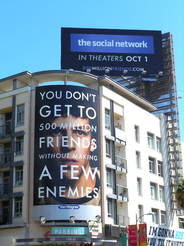 The Social Network movie billboards