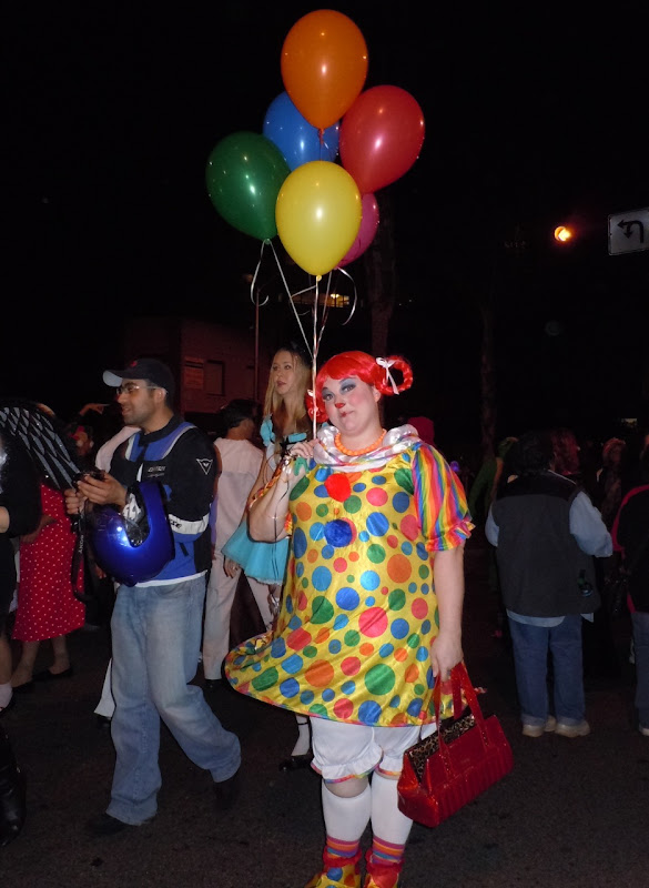 West Hollywood Halloween Carnaval balloon clown
