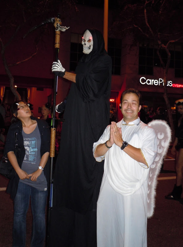 Reaper and Angel West Hollywood Halloween Carnaval 2010