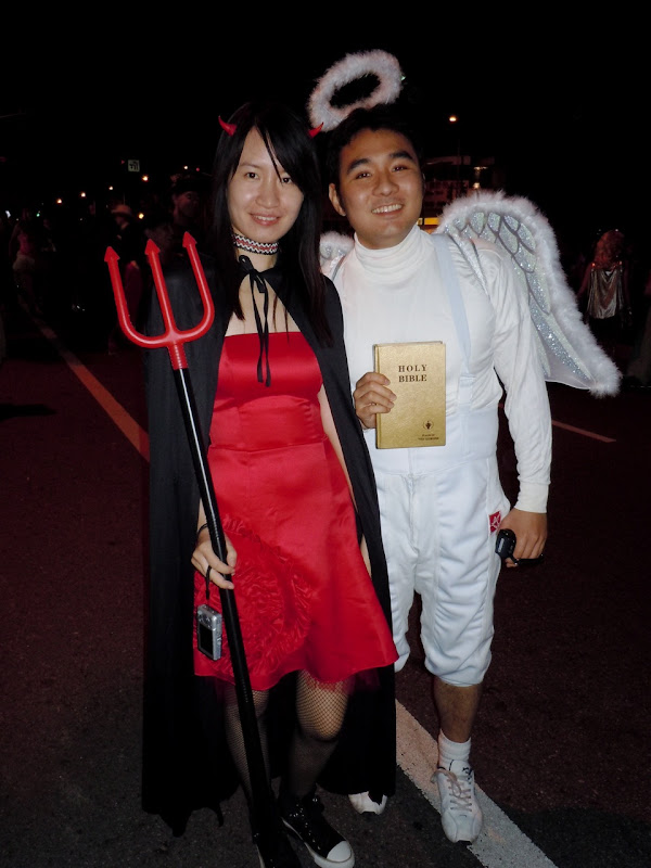 Deviul and Angel West Hollywood Halloween Carnaval 2010