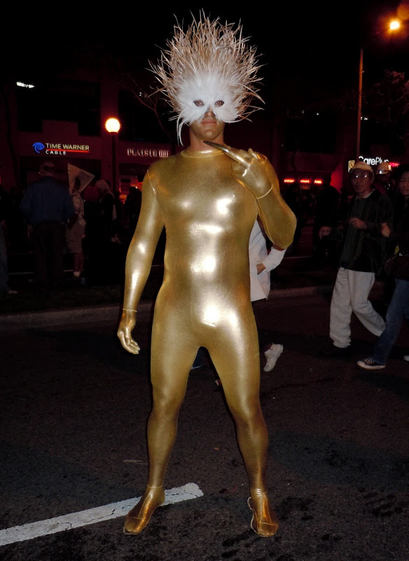 West Hollywood Halloween Carnaval goldfinger