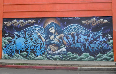 When angels intervene graffiti Los Angeles