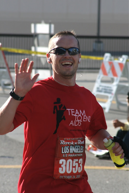 Jason running Rock n Roll LA Half Marathon