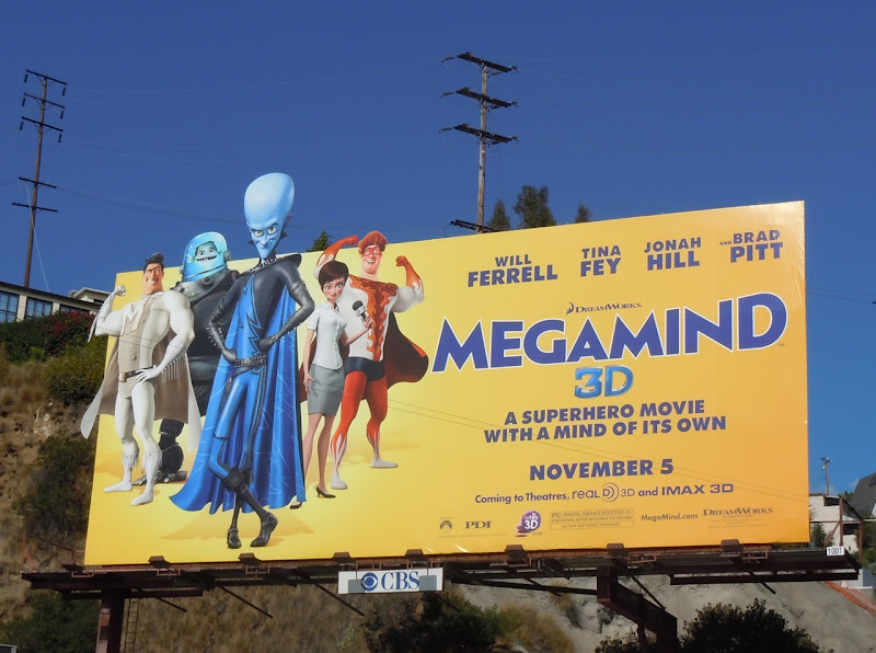 Megamind 3D billboard