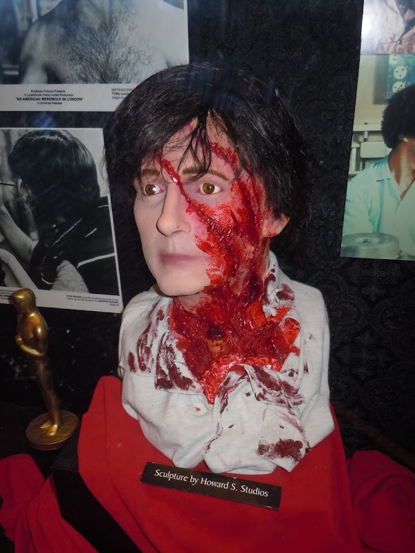 An American Werewolf in London make-up sculpture