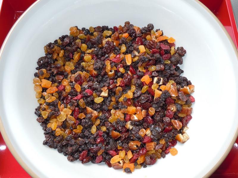 Fruitcake ingredients