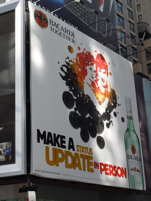 Bacardi billboard NYC
