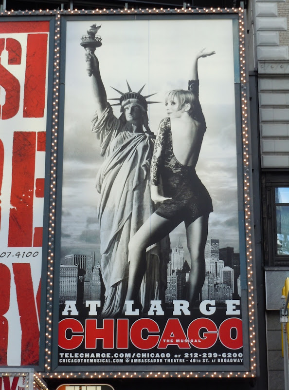 Chicago Musical billboard NYC