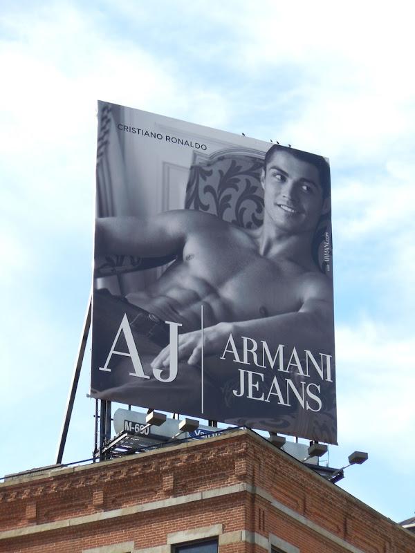 Armani Jeans Cristiano Ronaldo billboard