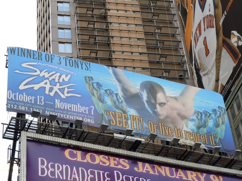 Swan Lake billboard NYC