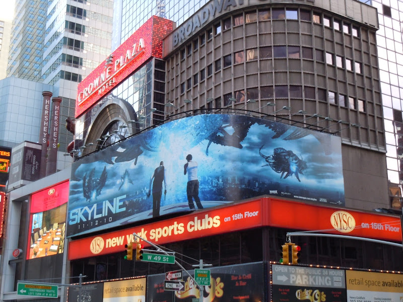 Skyline NYC movie billboard
