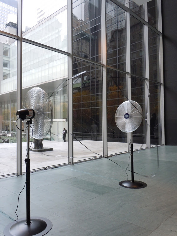 Two blowing fans MoMA
